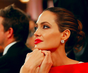 Angelina Jolie, red, and woman image