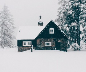 house and snow image
