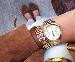 fashion, Moschino, and watch image