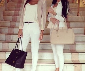 beige, girls, and sisters image