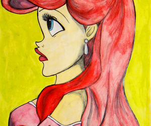 ariel, art, and draw image