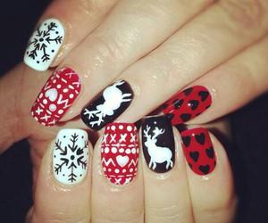nails, black, and christmas image