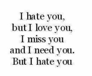 hate, miss, and need image