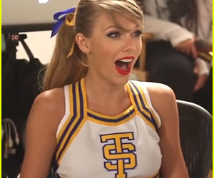 Taylor Swift, shake it off, and cheerleader image