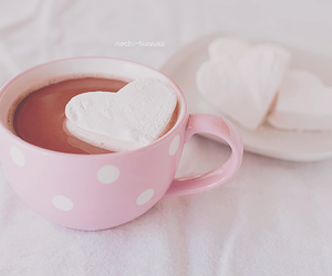 pink, heart, and marshmallow image