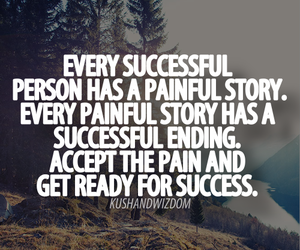 success, quote, and pain image