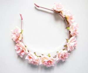 flowers, pink, and accessories image