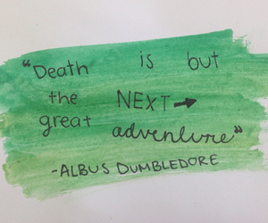 death, dumbledore, and harry potter image