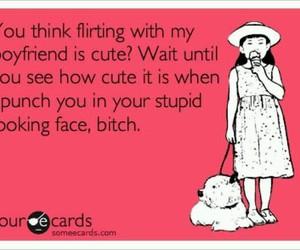 bitch, boyfriend, and flirting image