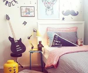 bed, creative, and house image