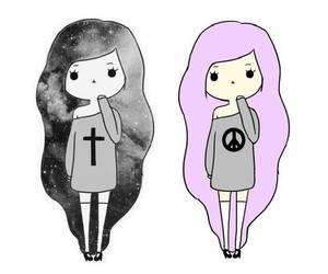 goth and drawing image