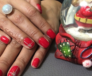 present, christmasnails, and red nails image