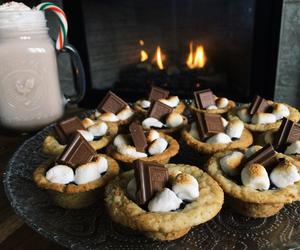 baking, cozy, and hot chocolate image