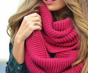 fashion, girl, and scarf image