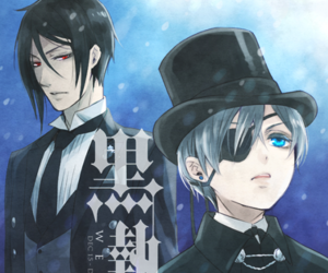 black butler, demon, and sebastian michaelis image