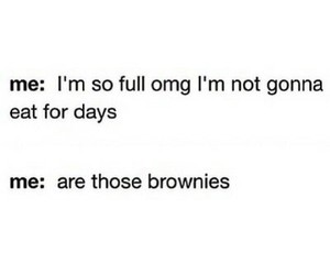 brownies, funny, and me image