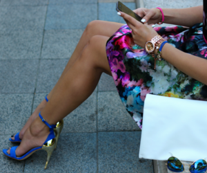 fashion, dress, and heels image