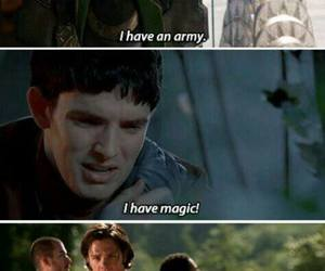 supernatural, funny, and merlin image