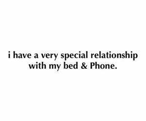 bed, phone, and Relationship image