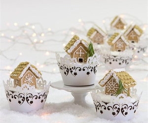 christmas, cupcakes, and desserts image