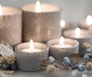 candle, christmas, and light image