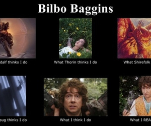 bilbo baggins, funny, and gandalf image