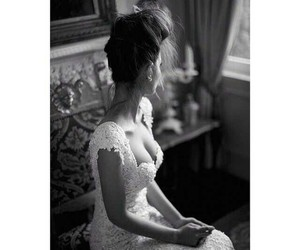 beautiful, white, and bride image