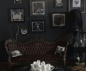 room, black, and gothic image