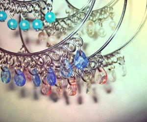 blue, diamonds, and classy image