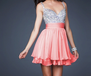dress, pink, and sequins image