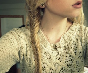girl, blonde braid, and cute image