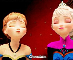 chocolate, frozen, and disney image