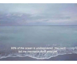 mermaids, ocean, and quote image