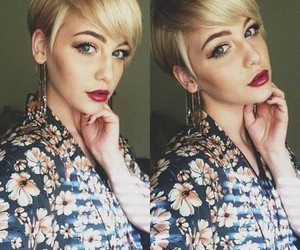 fashion, hair, and short hairstyle image