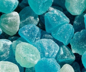 blue, candy, and food image