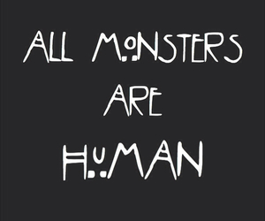 american horror story, humans, and monster image