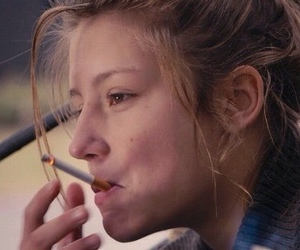 cigarette, blue is the warmest color, and grunge image