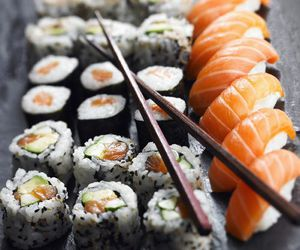 sushi, food, and japan image