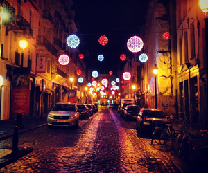brussels, christmas, and lights image