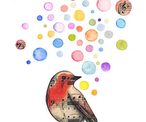 bird, music, and robin image