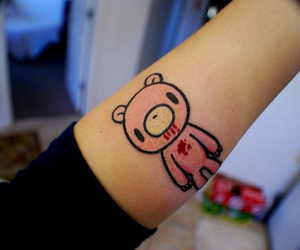 tattoo, gloomy bear, and bear image