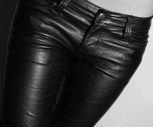 fashion, leather, and pants image