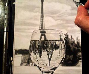 art, drawing, and eiffel image