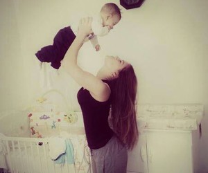 baby, mother, and cute image