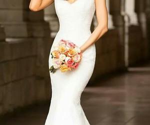 dress, wedding, and marrieg image