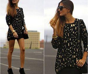 booties, dress, and fashion image