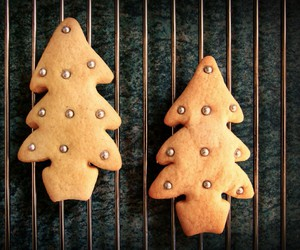 biscuits, chocolate, and christmas image