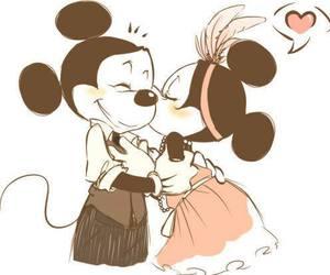love, mickey, and disney image