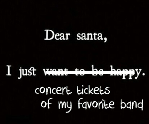 bands, christmas, and concert tickets image