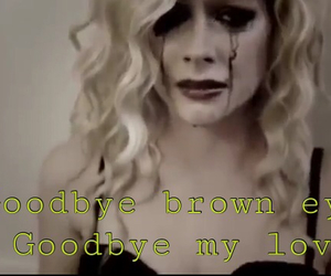 Avril Lavigne, brown eyes, and goodbye image